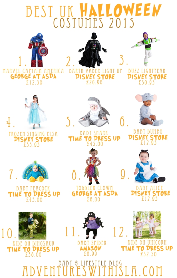 Top Halloween Costumes UK Adventures With Isla Blog