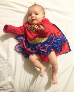 Halloween, Family Costume Ideas, Baby Halloween Costume, Cute, Wonder Woman Costume - Adventures With Isla Baby and Lifestyle Blog