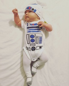 Halloween, Baby Halloween Costume, Cute, R2D2, Starwars - Adventures With Isla Baby and Lifestyle Blog