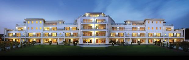 ST MORITZ -  Hotel Exterior at Night - Paul Kirkby